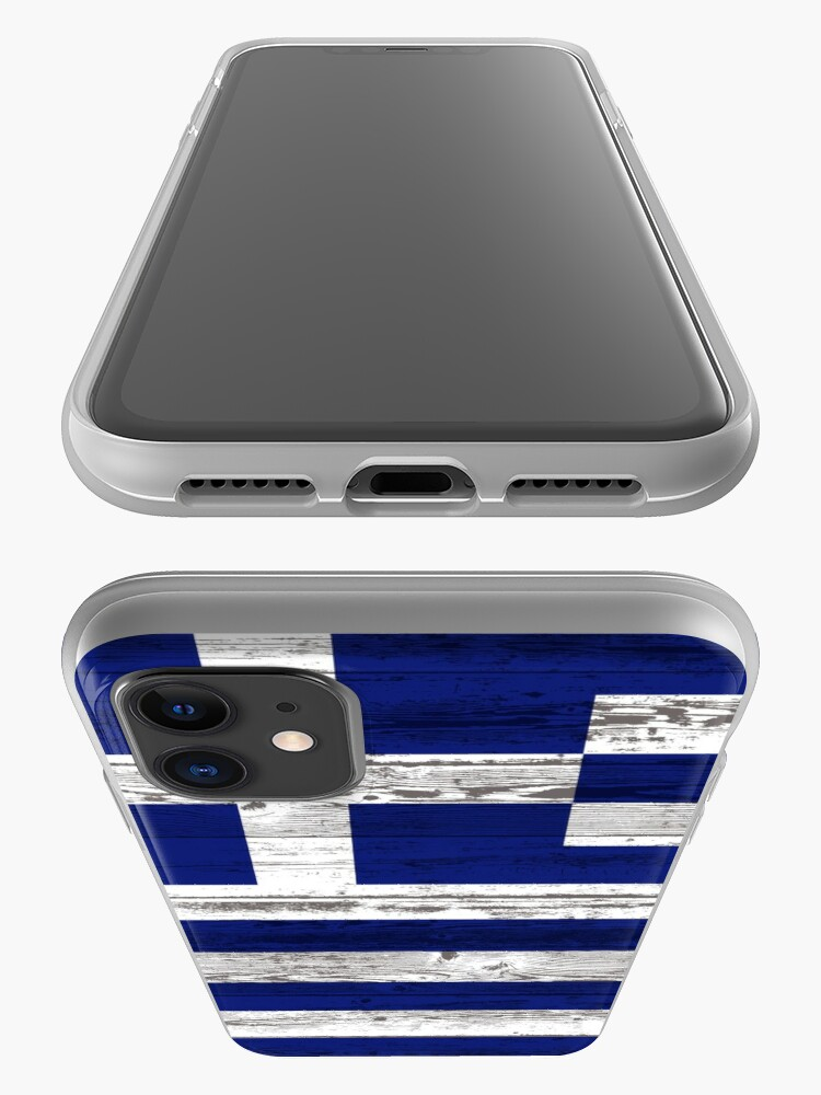 Alternate view of Greece flag iPhone Case & Cover