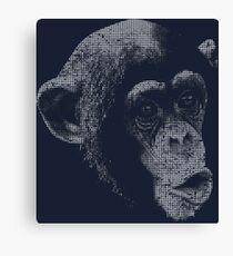 Monkey Kiss 2 Canvas Print