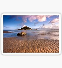 St Michaels Mount And Sailing Boats Sticker