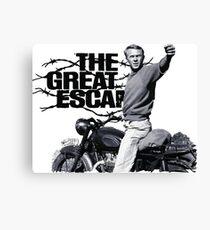 Steve McQueen The Great Escape TRIUMPH TR6 Motorcycle Canvas Print