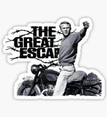 Steve McQueen The great escape TRIUMPH TR6 Moto Sticker