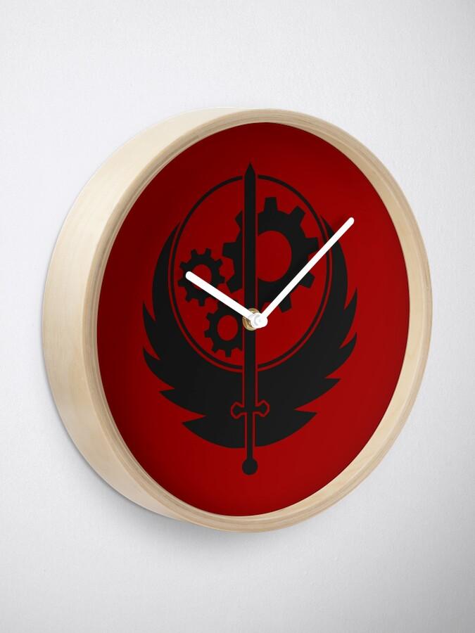 Alternate view of Brotherhood of Steel Emblem (Black) Clock
