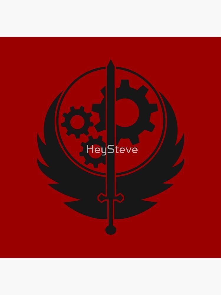 Brotherhood of Steel Emblem (Black) by HeySteve