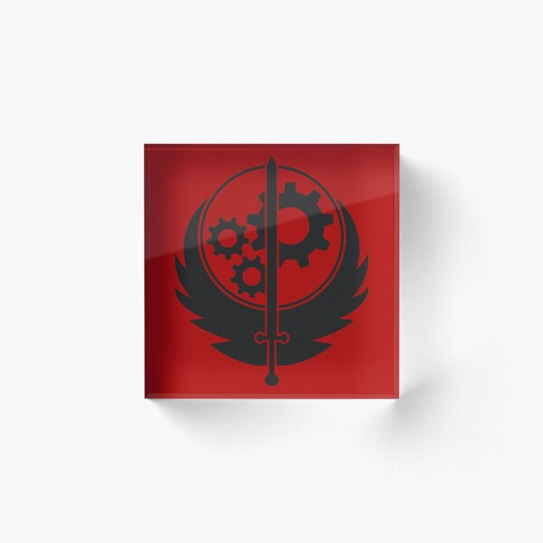 Brotherhood of Steel Emblem (Black) Acrylic Block