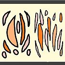 Cream melon yellow pattern panel by HEVIFineart