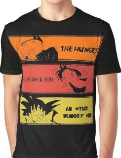 Hungry teammates!Naruto, One Piece, Dragon Ball Graphic T-Shirt