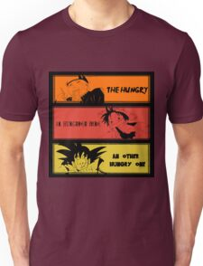 Hungry teammates!Naruto, One Piece, Dragon Ball Unisex T-Shirt