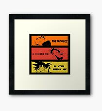 Hungry teammates!Naruto, One Piece, Dragon Ball Framed Print