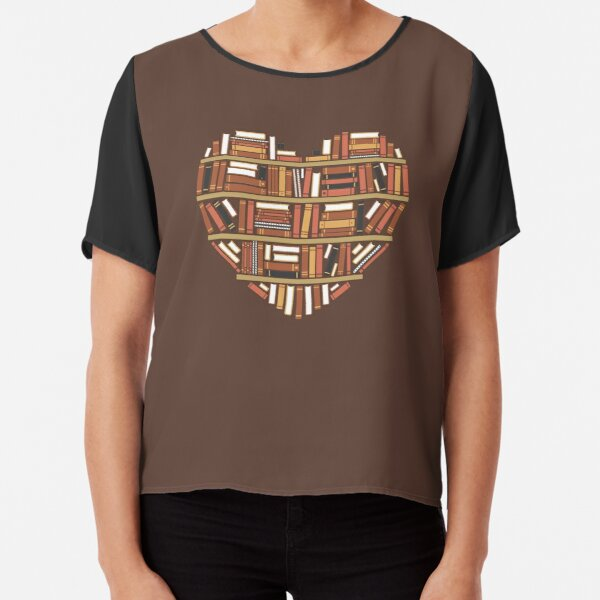 I Heart Books Chiffon Top