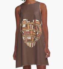 I Herz Bücher A-Linien Kleid