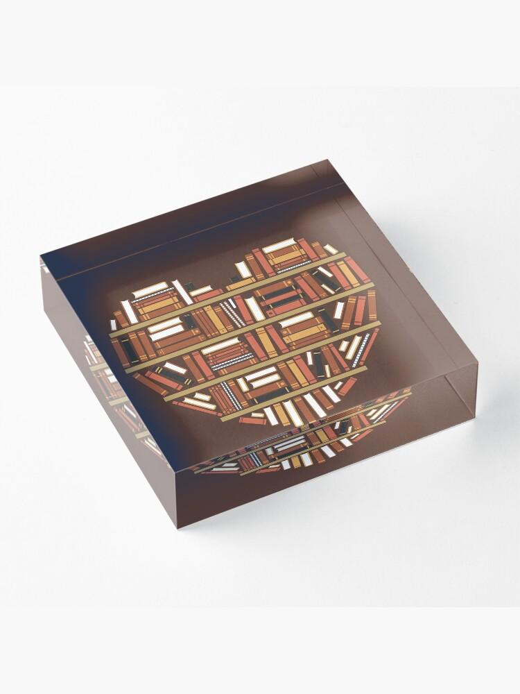 Alternate view of I Heart Books Acrylic Block