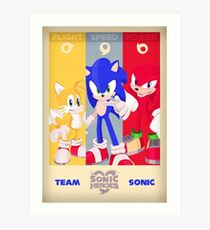 Team Sonic - Sonic the Hedgehog Art Print