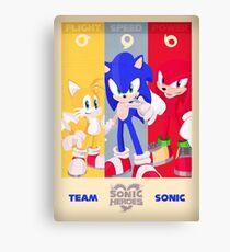 Team Sonic - Sonic the Hedgehog Canvas Print