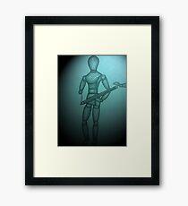 Azure Mannequin Framed Print