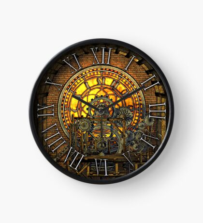 Vintage Steampunk Clock No.7, Steampunk Clock Tower Inner Workings Clock