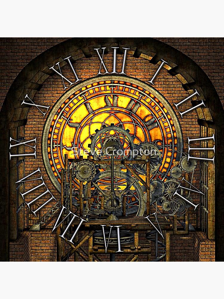 Vintage Steampunk Clock No.7, Steampunk Clock Tower Inner Workings by SC001