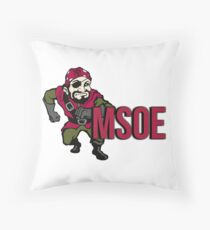 Milwaukee School of Engineering Throw Pillow
