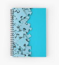 Blank jigsaw peices Spiral Notebook