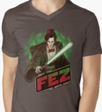 May the Fez be With You Men's V-Neck T-Shirt