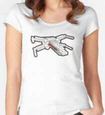 X-wing in bricks Women's Fitted Scoop T-Shirt