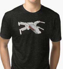 X-wing in bricks Tri-blend T-Shirt