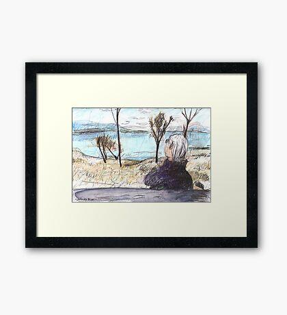 Jean at Callide Dam Framed Print