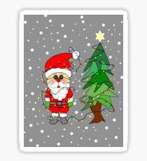 Playful Santa Sticker