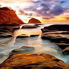 Tide Pool Oil Painting by Fred Seghetti