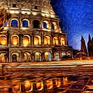 Romo Colosseum Oil Painting by Fred Seghetti