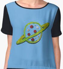 Pizza Planet Alien logo Women's Chiffon Top