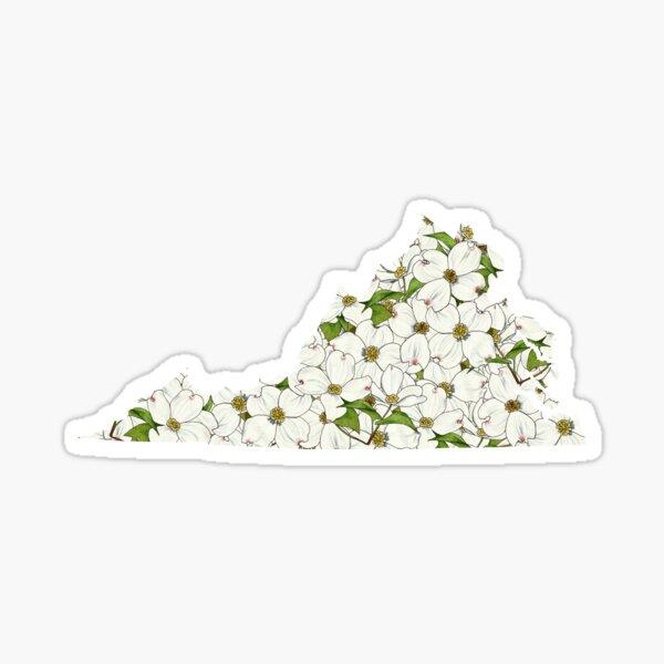 Virginia Flowers Sticker