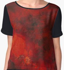 Molten | Alcohol Ink Abstract Chiffon Top