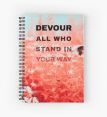 Devour All Who Stand In Your Way (Infrared/Butterfly) Spiral Notebook