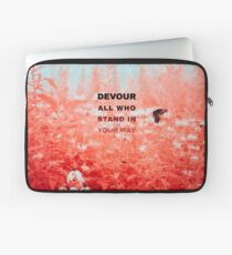 Devour All Who Stand In Your Way (Infrared/Butterfly) Laptop Sleeve