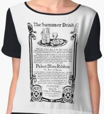 Old Ads - The Summer Drink, Pabst Blue Ribbon Chiffon Top