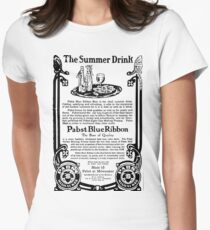 Old Ads - The Summer Drink, Pabst Blue Ribbon Womens Fitted T-Shirt