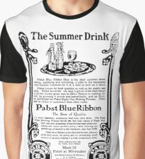 Old Ads - The Summer Drink, Pabst Blue Ribbon Graphic T-Shirt