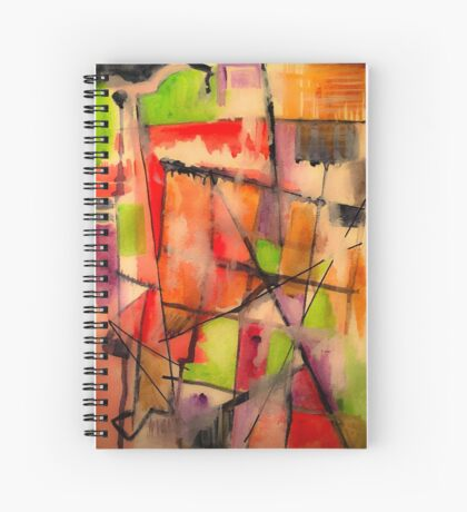 Lines and Color: Abstract Studio Spiral Notebook