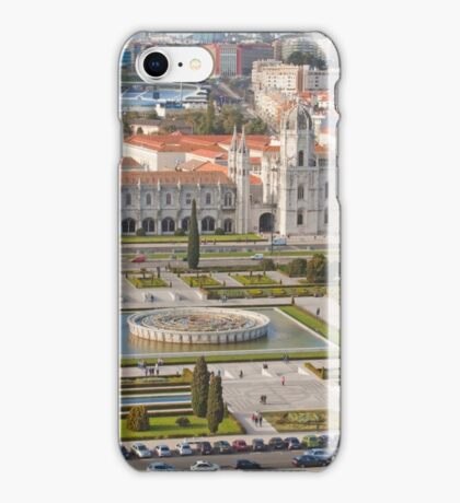 Jerónimos Monastery and the Empire Plaza. iPhone Case/Skin