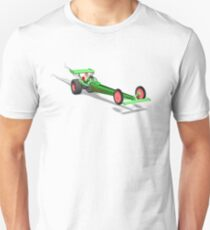 Santa Claus In Dragster T-Shirt
