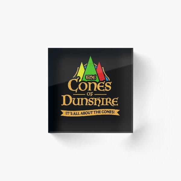 Les cônes de Dunshire Bloc acrylique