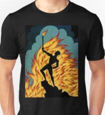 "Art Deco Design by Erte ""Fire"" Unisex T-Shirt"