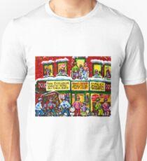 MONTREAL PARK EXTENSION DEPANNEUR WINTER HOCKEY SCENE PAINTING T-Shirt