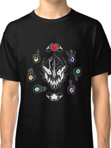 GASTER - God of Permadeath (LINED - WHITE) Classic T-Shirt