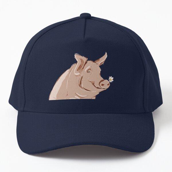 Pig pattern in Violet Blue Baseball Cap