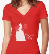 Tale as old as Time... Women's Fitted V-Neck T-Shirt