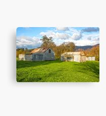 Old Farm Sheds In The Valley..... Canvas Print