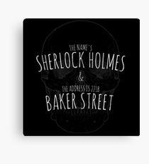 Sherlock Holmes 221B  Canvas Print