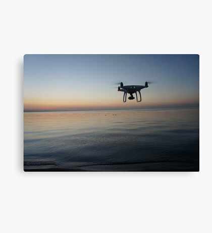 Drone sunset Canvas Print