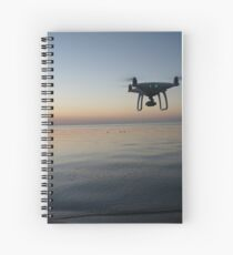 Drone sunset Spiral Notebook